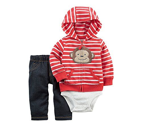 Baby Boy Clothes Carter's Baby Boys Cardigan Sets 121h264, Red, 18 Months Baby