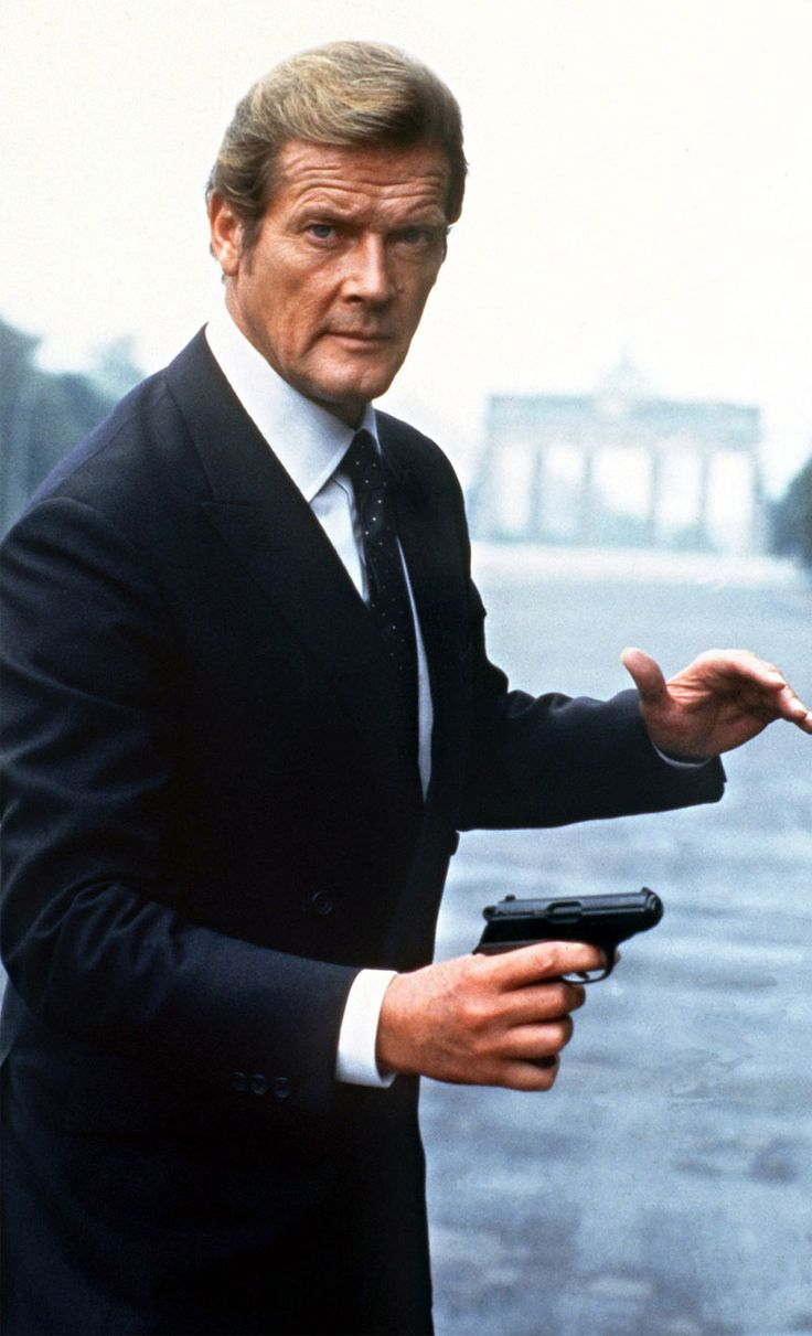 Roger Moore, actor. Portrayed agent 007 James Bond.  d May 23, 2017 (89)