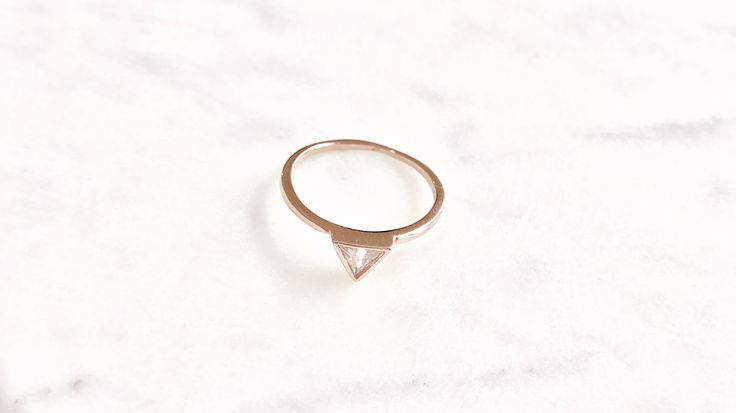 Rose gold trouble ring bohchicstore.com