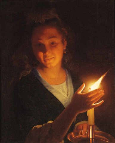 an analysis of george de latours painting the lighted candle Review by john haber of george de la tour at the national gallery in washington silence is golden john haber in new york city george de la tour modernism was chaotic and contentious, but.