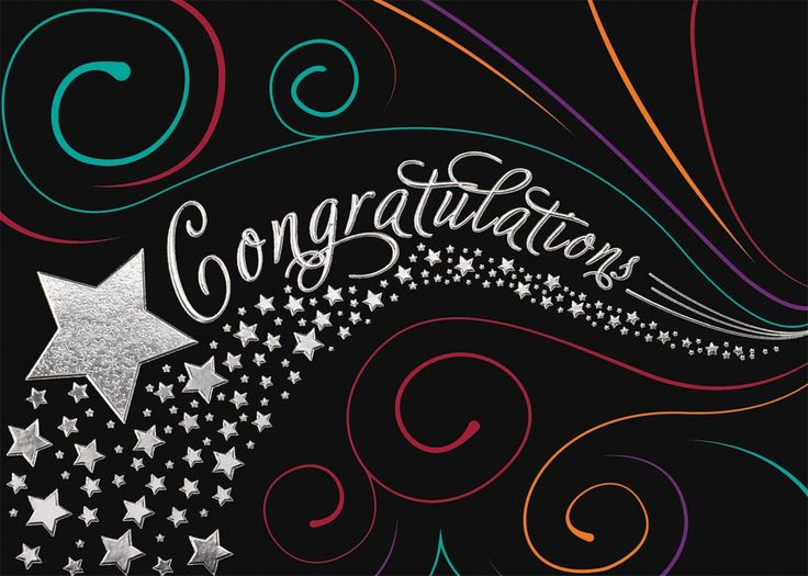 Stars and Swirls Congrats - Congratulations Cards from CardsDirect