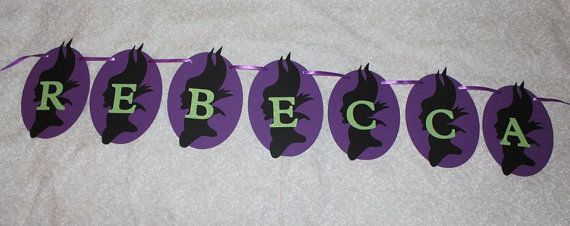 Maleficent Banner  Disney Villain by Leonscreativememorie on Etsy, $2.75