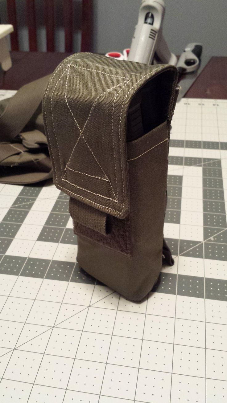 [No Pattern] Ammo pouch with velcro flaps and MOLLE webbing - for no particular reason _(ツ)_/ #sewing #crafts #handmade #quilting #fabric #vintage #DIY #craft #knitting
