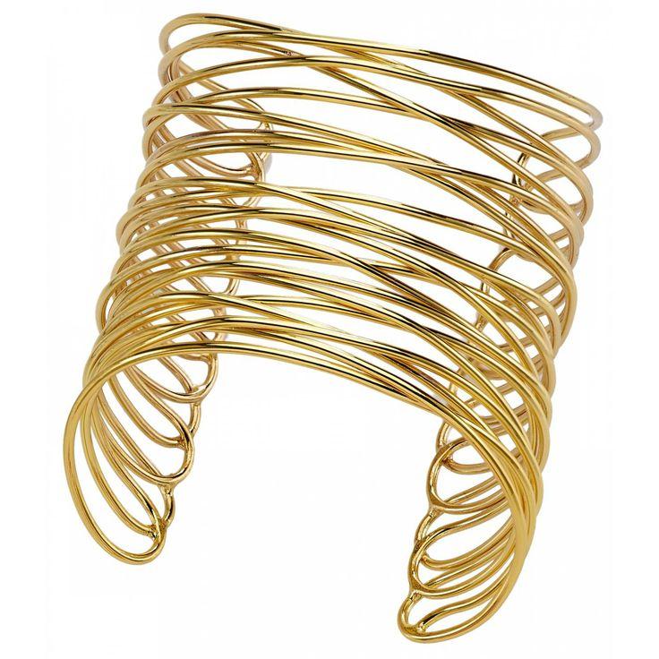 Ladies bronze Entrecroisé Infini gold bangles - Franchini