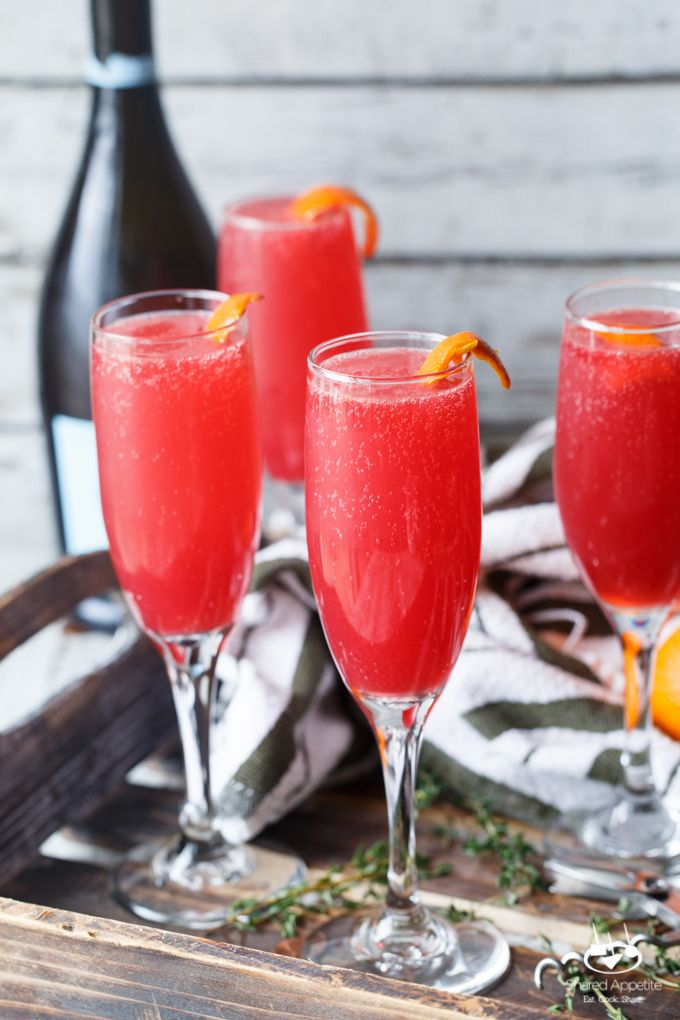 Check out blood orange thyme mimosas it 39 s so easy to make for Mix drinks with wine