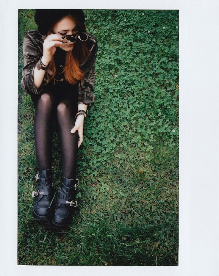 Very cool vibe!  Fuji Instax Wide Film // Photography & Styling by Kimi Selfridge // #red #hair