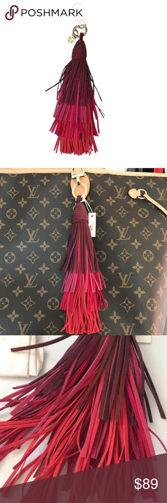 TORY BURCH Ombre Multi Layer Tassel Bag Charm Brand new with tags. Bag charm. Key holder. Unique multi-color long Tassel. Retail $115. Authentic. Purchased at Nordstrom. Tory Burch Accessories Key & Card Holders