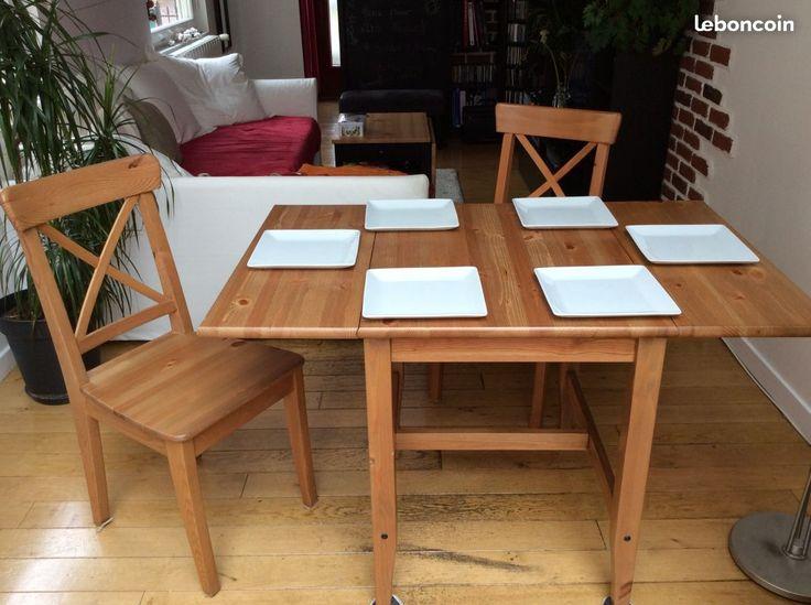 table pliable en bois avec deux chaises ingolf with table pliante avec chaise intgre. Black Bedroom Furniture Sets. Home Design Ideas