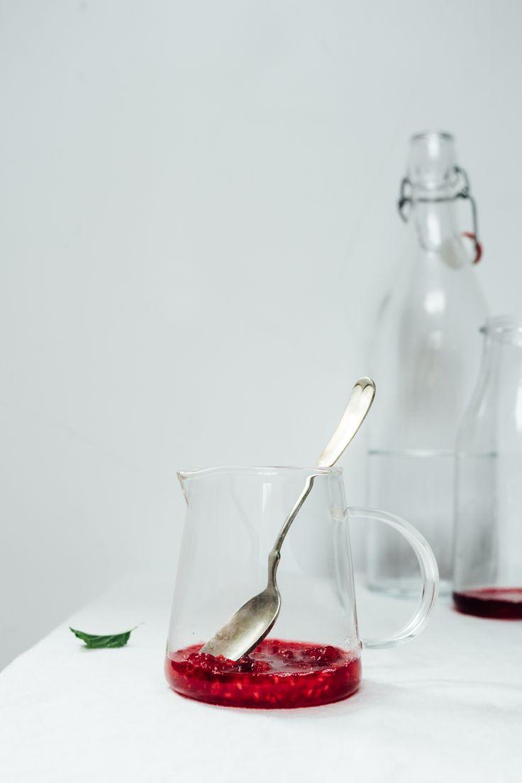 Minted Hibiscus And Raspberry Recipe — Dishmaps