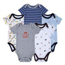 Bodysuits do bebê Recém-nascido Ropa Bebe 5 pçs/lote 100% Guaxinim Algodão Bebês corpo Menino Menina Menino Roupas Para Bebês 0-12 Meses Do Bebê roupas(China (Mainland))