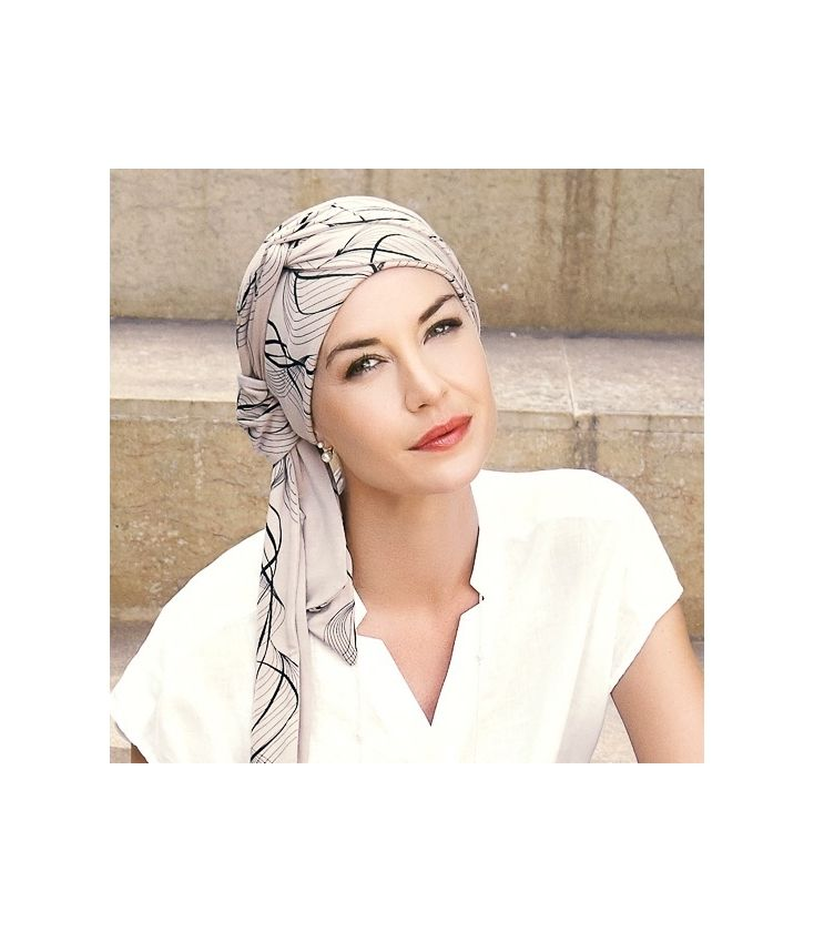 Turban chimio long bambou - Amaretto - Christine