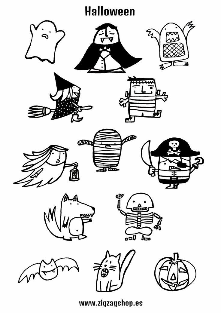 1000 images about para pintar on pinterest dibujo - Dibujos infantiles halloween ...