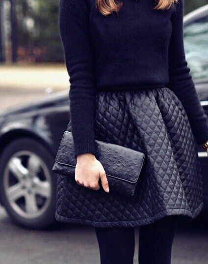 Leathet skirt and cropped sweater. Love this add booties and a glam necklace #festive #readyforholidays