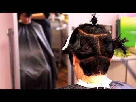 Короткая женская стрижка на прямых непослушных волосах - YouTube