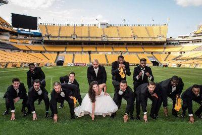 Wedding Photo at Heinz Field
