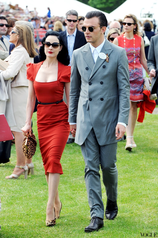 Дита фон Тиз и Тео Хатчкрафт на финале Cartier Queen's Cup в Англии