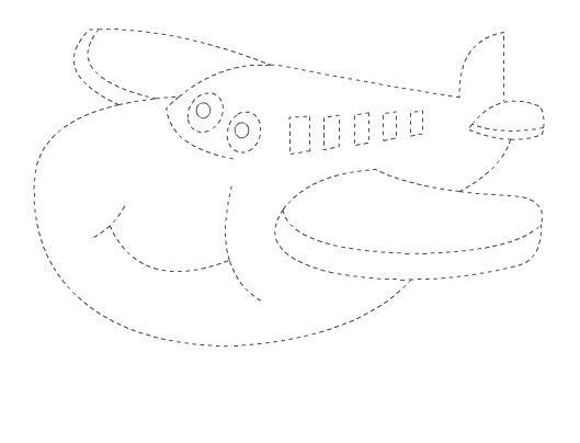 Güler yüzlü uçak - Çizgi Çalışması - Okul öncesi çocuklar için güzel bir çizgi çalışması.