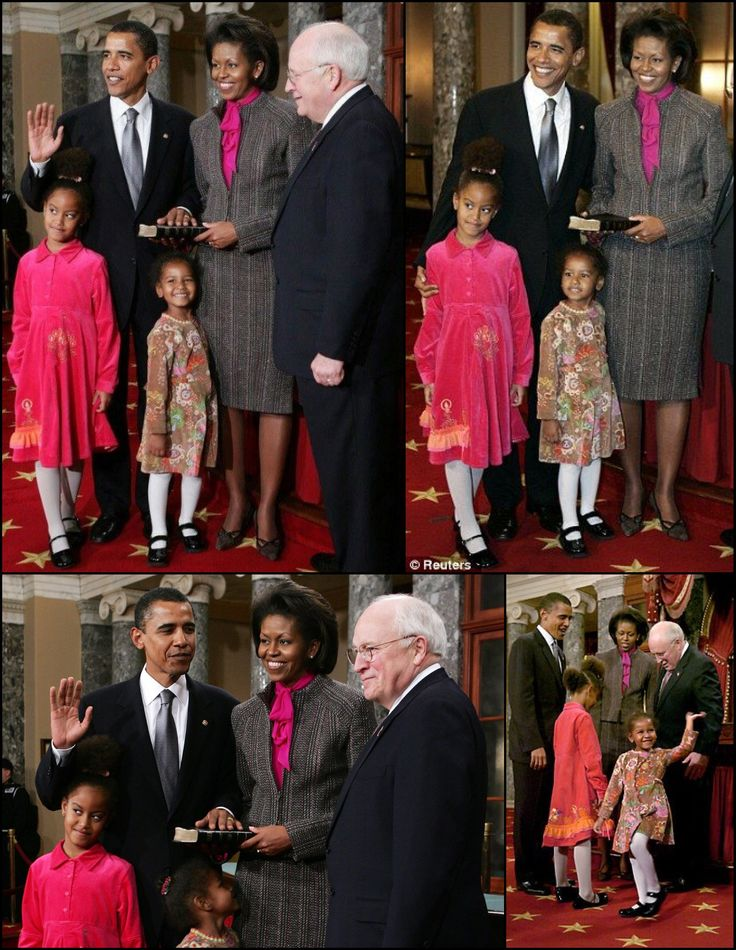 Sworn In As #Senator January 2005 #44 #President Of The United States  Of America Commander In Chief #BarackObama #FirstLady Of The United States  Of America #MichelleObama #FirstDaughters Of The United States  Of America Malia & Sasha #Obama