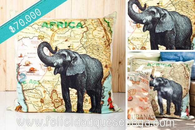 """Cojín """"África"""" de nuestra nueva colección"""