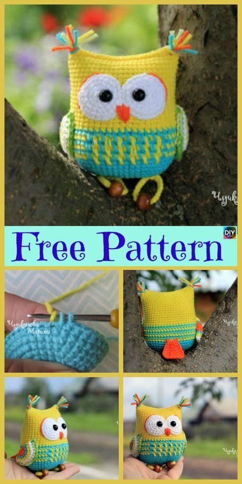 12 Cutest Crochet Amigurumi Owl Free Patterns | crafts | Pinterest ...