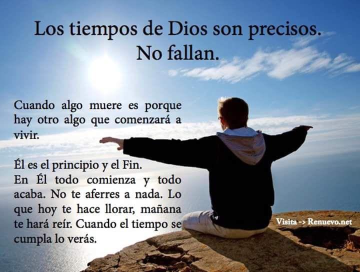 Los Tiempos de Dios son precisos no falla. #Diosteama #Dioscumple #cristianos