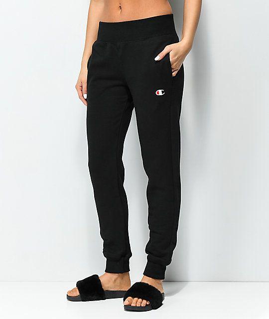 c5627452 Champion Reverse Weave Black Jogger Sweatpants in 2019   Dress Up ...