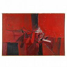 Piero Ruggeri (Italian, 1930-2009), Figura rossa distesa