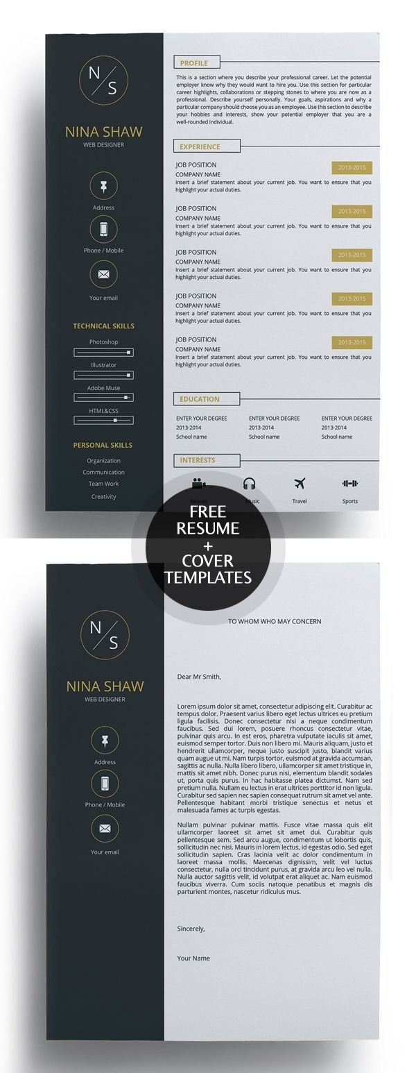 free creative resume templates with cover letter