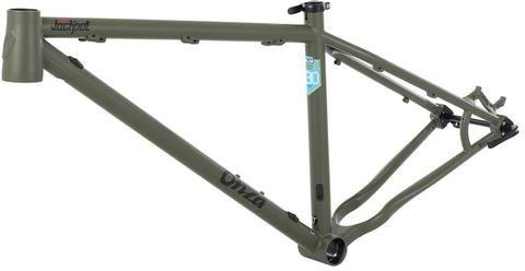 "Jackpot 27.5"" Steel Hardtail MTB Frame - Tank Green - Onza Bikes"