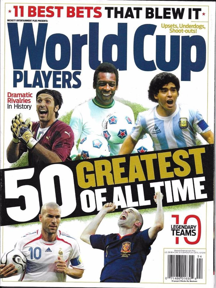 World Cup soccer magazine 50 greatest players of all time 10 legendary teams