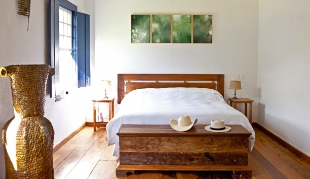 Fazenda Catucaba: Suites have a rustic-chic charm, with wooden floorboards and working fireplaces.