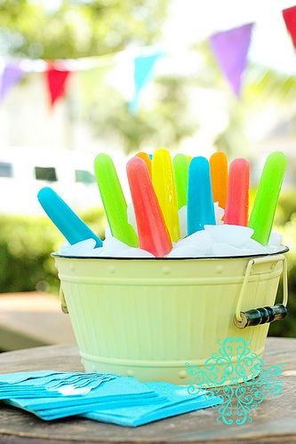 Popsicle in ice by Tammy Mitchell, via Flickr, not sure this would work in Texas But I really like the idea!
