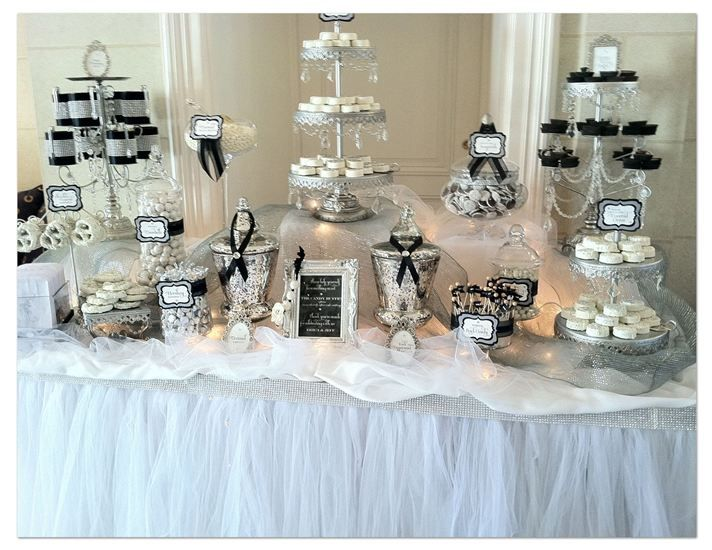 black and white candy bar idea white dessert tableswhite