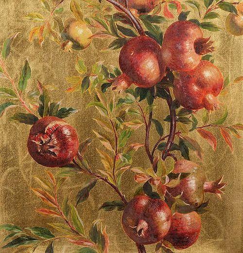 William Hughes, Pomegranates, detail 1882