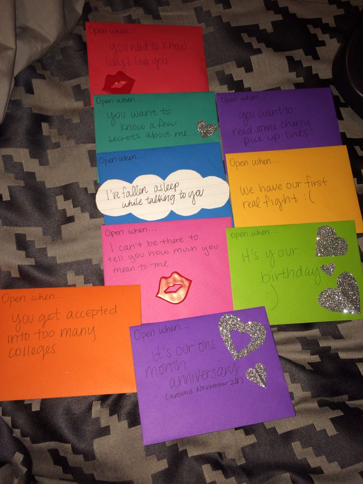 What to put inside open when letters for boyfriend
