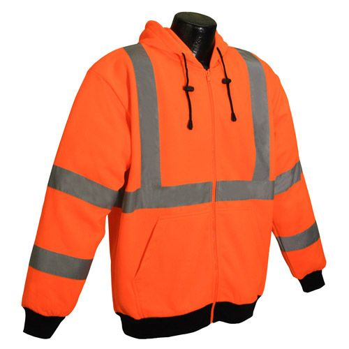 Radians SJ01 Class 3 Hi-Viz Long Sleeve Hooded Sweatshirt