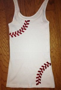 Rhinestone Baseball Mom Shirt -  Tank Top via Etsy