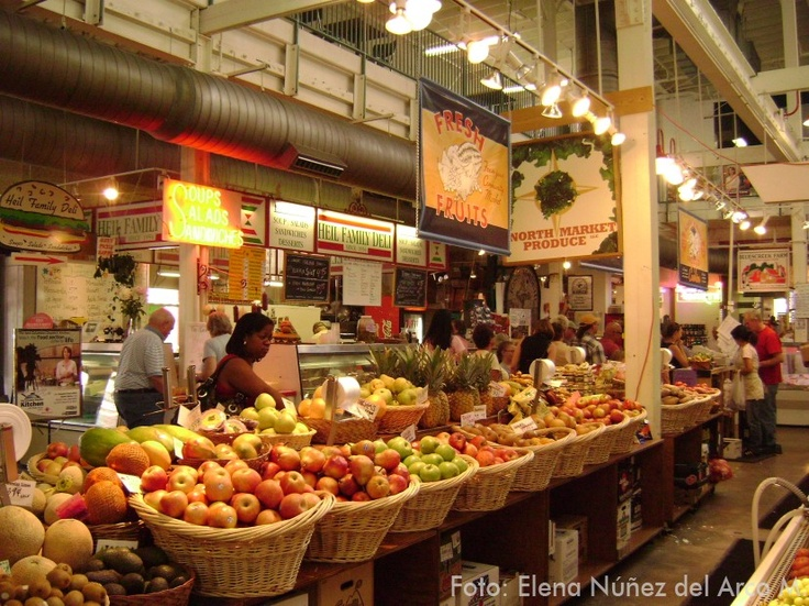 North Market shopping. Roxanne took me here in the summer