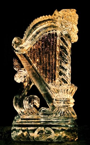 ice sculptures. I find it looks like the grammy awards symbol or guiness symbol
