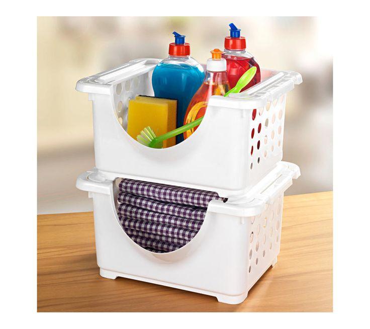 Stohovatelné úložné boxy,2ks | vyprodej-slevy.cz #vyprodejslevy #vyprodejslecycz #vyprodejslevy_cz #home #kitchen #kuchyn #doplnky