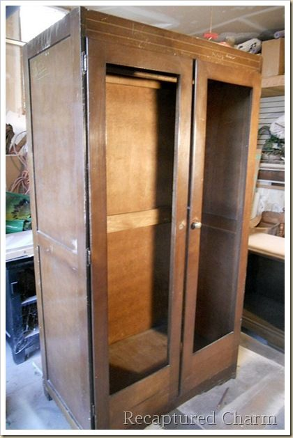 Old armoire to pie safe 1