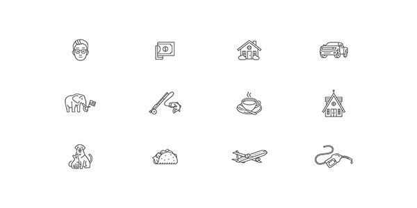 Icon Design by Tim Lautensack #iconset #icons #icondesign #icon #consumer #picto #pictogram #symbol #line #outline #iconography