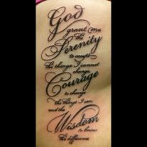Serenity Prayer Tattoo  The Serenity Prayer Tattoos have been in the hearts Christians for over a century. Here are 50 designs for that very special tattoo! #inkdoneright #inked #tattoo #tattoos #serenityprayer