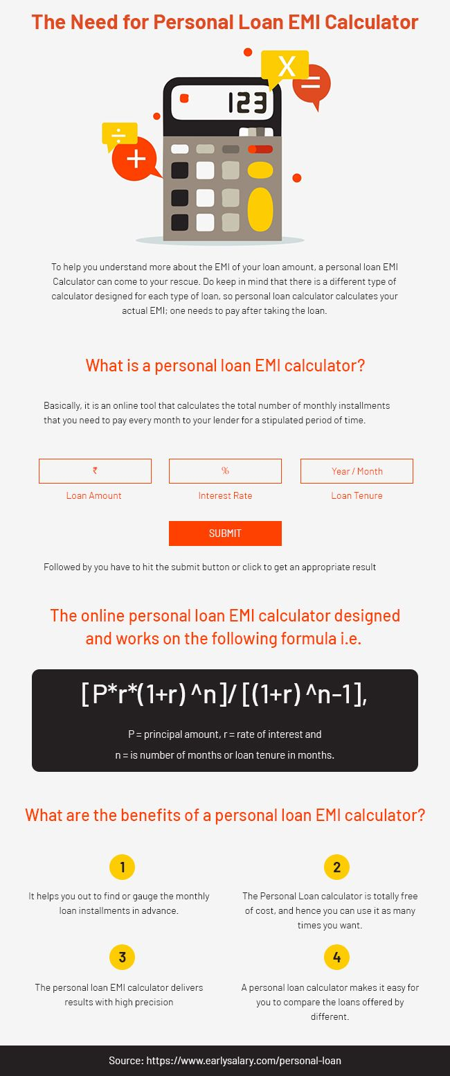 The Need For Personal Loan Emi Calculator Personal Loans Personal Loans Online Instant Loans Online