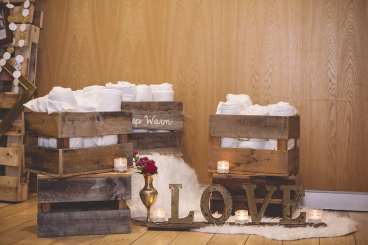 Keep warm station by Drift Events #crates #blankets #love #obsessed
