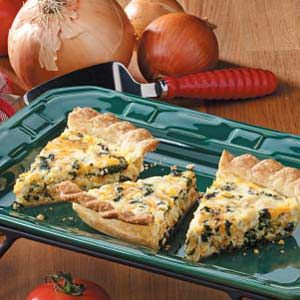 Chicken Spinach Quiche - made this and it was great . Of course we added more spice but that's just our crazy house. We also used fresh baby spinach. I think this may be a go to for leftover turkey too.