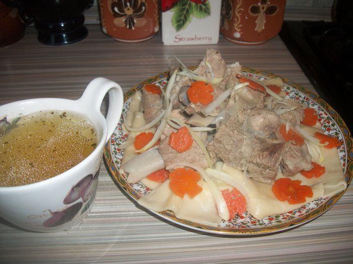 Казахская кухня. Бешбармак Казахский