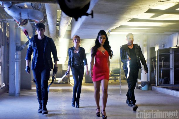 First Look at ABC Family's 'Shadowhunters'- Alec, Clary, Isabelle and Jace