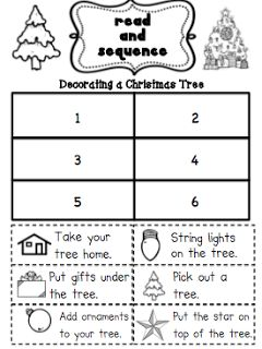 Sarah's First Grade Snippets: Decorating your Christmas Tree Freebie