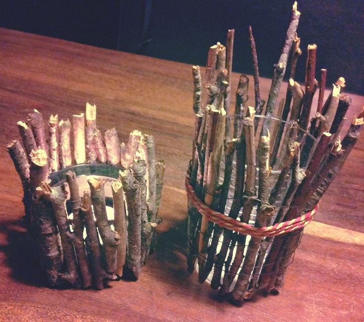 Candle holder made out of tree branches!